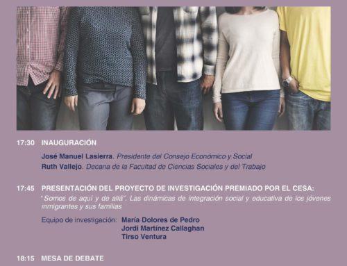 Jornada sobre Jóvenes Extranjeros