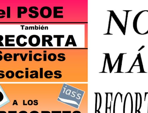 No a los recortes en Servicios Sociales en Aragón