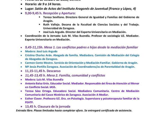 Jornada / Taller Mediación conflictos padres e hijos