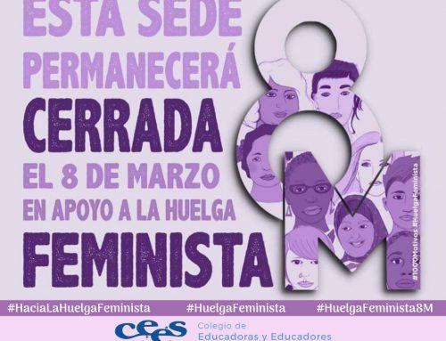 8M Sede cerrada en apoyo a la Huelga Feminista