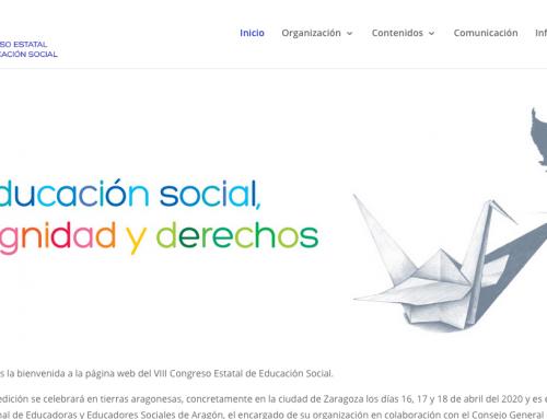 El VIII Congreso Estatal de Educación Social lanza su página web