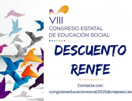 Descuento RENFE para asistentes al Congreso de Educación Social