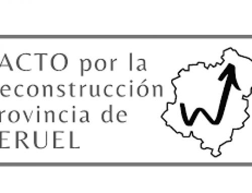 Nos unimos al Pacto por la reconstrucción de Teruel