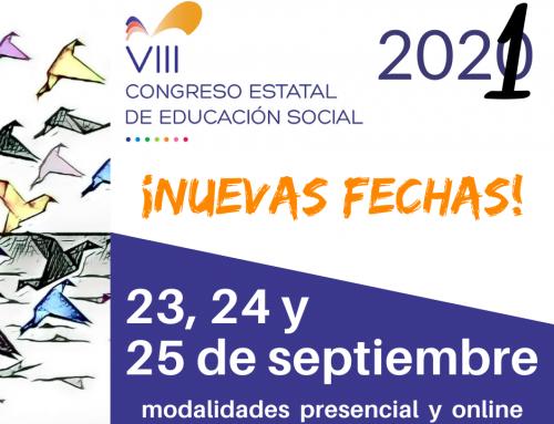 COMUNICADO COMITÉ ORGANIZADOR  VIII CONGRESO ESTATAL DE EDUCACIÓN SOCIAL