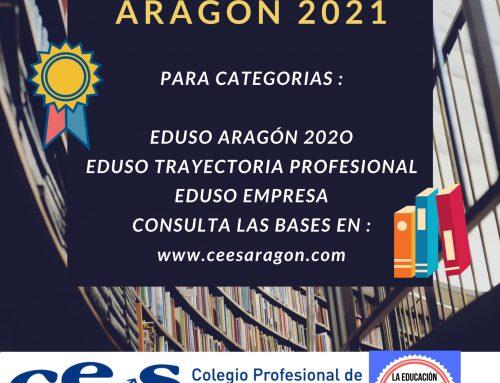 CATEGORÍAS PREMIOS EDUSO ARAGÓN 2020