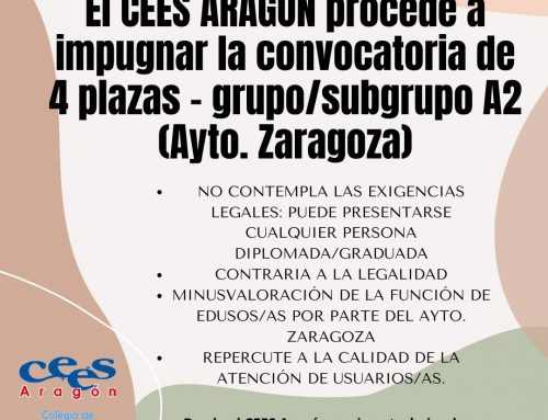 INFORMACIÓN SOBRE IMPUGNACIÓN CONVOCATORIA AYUNTAMIENTO DE ZARAGOZA
