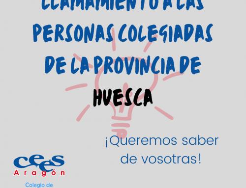 Comunicación para las personas colegiadas de Huesca